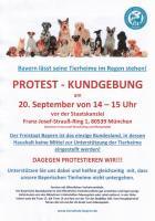 Protest-Kundgebung- wir fahren gemeinsam nach München
