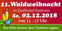 Waldweihnacht im Quellenhof am 02.12.2018